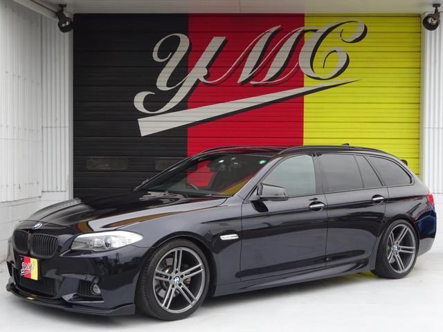 BMW 523iツーリング Mスポーツパッケージ バックカメラ・エアロ・ウッドパネル・HID・19AW・メーカーナビ・ルーフレール・フルセグTV・シートヒーター・パワーシート
