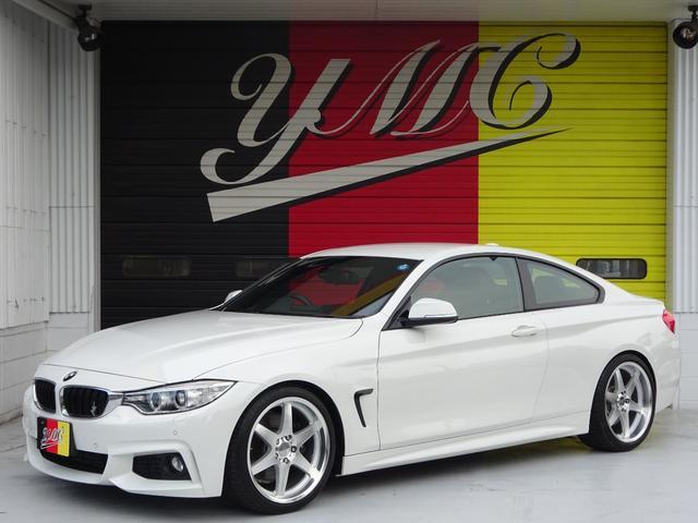 BMW 4シリーズ 435iクーペ Mスポーツ H&Rローダウン・MKモータースポーツアルミペダル&19AW・ブラックレザーシート・HUD・純正ナビ&TV・シートヒーター・ミラー一体型ETC