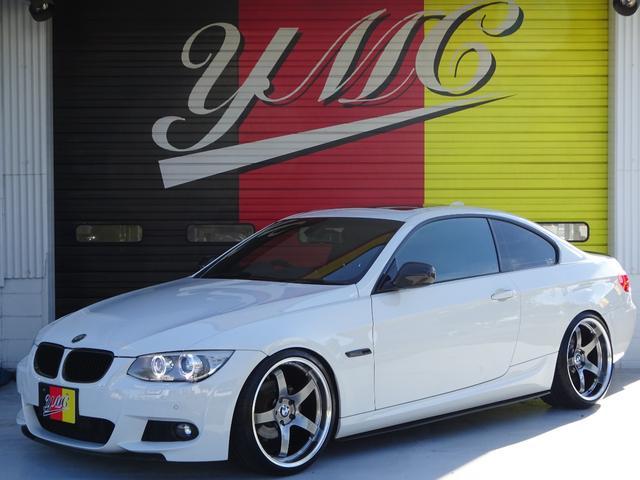 BMW 3シリーズ 335i Mスポーツパッケージ エキゾテックマフラー・日正タイヤ車高調・Mパフォーマンスハンドル・ブラックレザーシート・フロント&リアカーボンスポイラー・カーボンディフューザー・アドバンレーシングFOREGED20AW・ETC