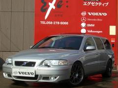 ボルボ V70R AWD プレミアム革SR 社外AW 同色P済 カスタム車