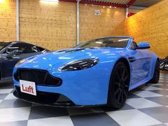アストンマーティン V12ヴァンテージSロードスター スペクトラルブルーレザー ポップアップナビ