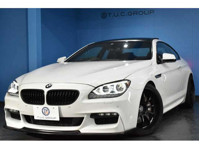 BMW 650iクーペ V8 サンR アダプティブLED/H ヒーター付シート アドバンレーシング20AW クルコン パドルS フルセグTV Bカメラ ウッドP iドライブ スマートキー Fリップ&Rスポイラー 2年保証