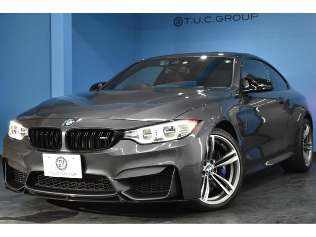 BMW M4 M4クーペ アダプティブLED/H 車線逸脱&歩行者警告 衝突軽減B HUD カーボンルーフ ヒーター付赤革 19インチAW 大型パドルS タッチPiドライブフルセグTV Bカメラ BTオーディオ 2年保証