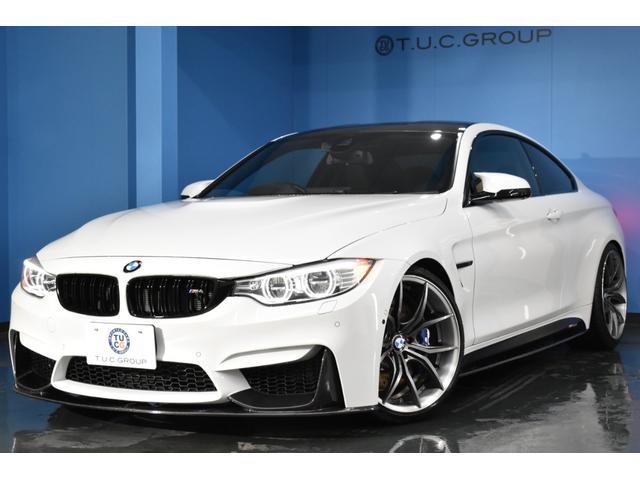 BMW M4クーペ レーンチェンジ警告 ハーマンカードン HUD LEDH 車線逸脱&歩行者警告 衝突軽減B Pアシスト TOPビュー&サイドカメラ KW車高調 RAYS20インチAW フルセグTV 2年保証