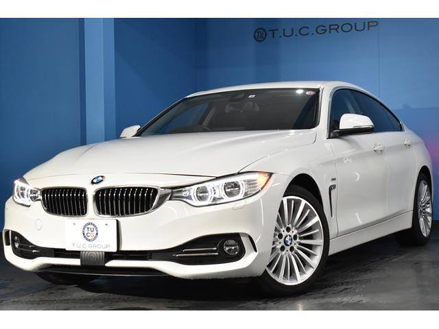 BMW 4シリーズ 420iグランクーペ ラグジュアリー 追従ACC ヒーター黒革 アダプティブLED/H 車線変更&車線逸脱&歩行者警告 衝突軽減ブレーキ 電動Rゲート ウッドP BTオーディオ Bカメラ タッチPiドライブ 2年保証