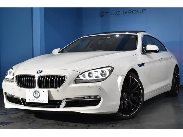 BMW 6シリーズ 640iグランクーペ サンR アダプティブLEDH アイゼンマン4本出しマフラー RAYS20AW F/ベンチ付黒革 全席シートヒーター 全席シートヒーター インテリセーフティー フルセグTV 2年保証