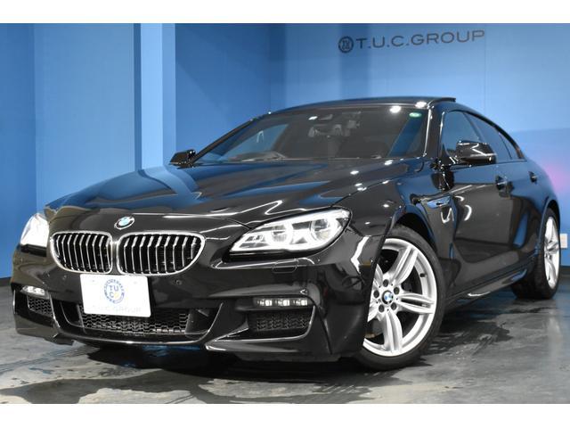 BMW 640iグランクーペ Mスポーツ サンルーフ HUD NEWデザインLEDヘッドライト マルチディスプレイメーター 追従ACC 車線変更警告 ヒーター付ブラックレザー 横メニューiドライブHDDナビ Bカメラ スマートキー 2年保証