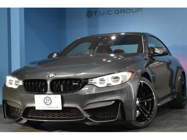 BMW M4クーペ ミネラルグレー シートヒーター付サキ―ルオレンジ革 HUD 車線逸脱警告 LEDヘッドライト 19インチアルミホイール タッチパッド付iドライブ フルセグTV バックカメラ 大型パドルシフト 2年保証