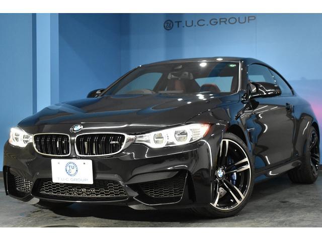 BMW M4 M4クーペ 可変Mサス ヒーター付サキールオレンジレザー LED/H HUD 衝突軽減ブレーキ 車線逸脱&歩行者警告 19AW フルセグ Bカメラ iストップ スマートキー タッチパッド式iドラ 2年保証