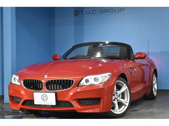 BMW Z4 sDrive20i Mスポーツパッケージ 後期 ヒーター付黒革 電動OP LEDリング付キセノン iドライブHDDナビ DVD再生 Mサーバー ドラパフォ パドルシフト ウィンドディフレクター ミラーETC シルバーインテリア 2年保証