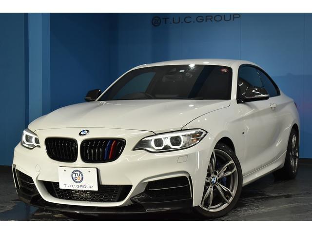 BMW 2シリーズ M235iクーペ 可変Mサス Mスポーツブレーキ フロントリップ 専用18AW フルセグTV 衝突軽減B 車線逸脱&歩行者警告 Bカメラ リング付キセノン タッチパッド式iドライブHDDナビ クルコン ETC 2年保証