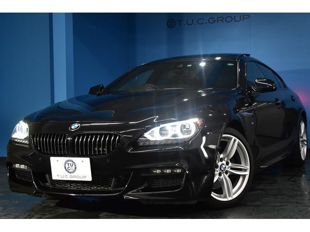 BMW 6シリーズ 640iグランクーペ Mスポーツ サンR LEDヘッド ヒーター付黒革 ウッドインテリア 車線逸脱警告 歩行者警告 クルコン 19AW パドルシフト フルセグ 前後連動Bカメラ タッチパッド付iドライブ iストップ 2年保証