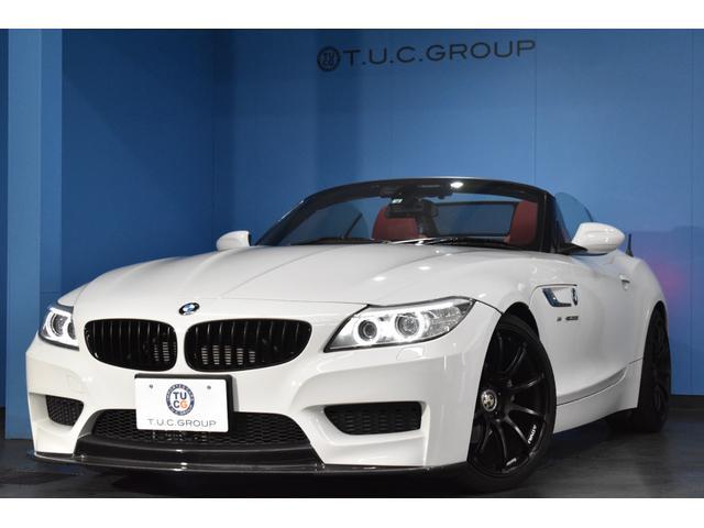 BMW Z4 sDrive20i Mスポーツ 後期LCI ヒーター付赤革 3Dデザインマフラー&フロント/リアエアロ ADVANレーシング19AW アイバッハダウンサス パドルシフト フルセグTV バックカメラ ルーフラッピング 2年保証
