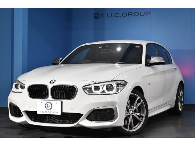 BMW 1シリーズ M140i 後期 ヒーター付黒革 LEDヘッド&テール アダプティブMサス Mスポーツブレーキ 衝突軽減ブレーキ 車線逸脱&歩行者警告 Pアシスト パドルシフト 横メニューナビ Bカメラ フルセグ 2年保証