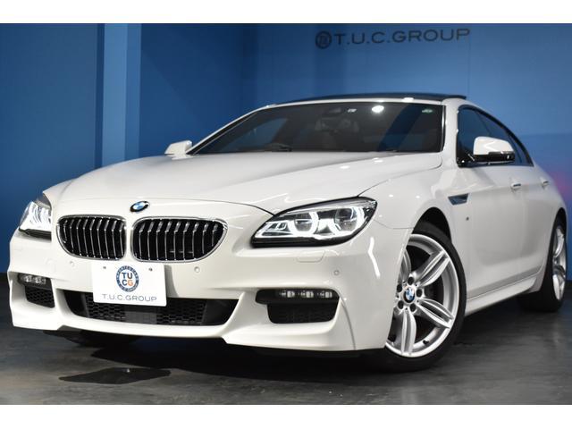 BMW 6シリーズ 640iグランクーペ Mスポーツ 後期 サンルーフ 追従ACC 車線変更警告 NEWデザインLEDヘッド マルチディスプレイメーター HUD ヒータ付ブラウンレザー 19AW タッチパッド付iドライブ フルセグ スマートキー 2年保証