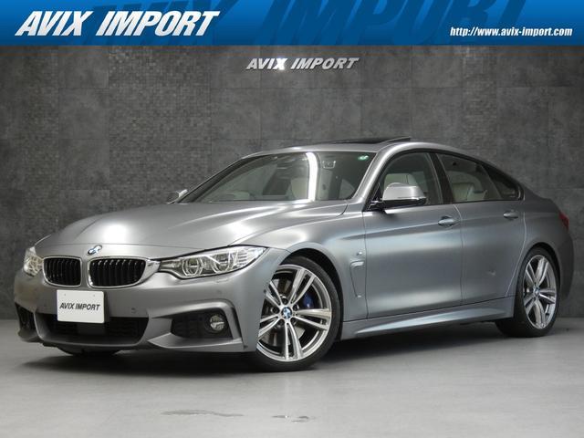 BMW 4シリーズ 435iグランクーペ Mスポーツ 右H Dアシスト Individual特別仕様 SR 白革 白ウッドトリム ディスプレイ付ステアリング ナビ TV トップビュー ACC パワーシート ヒーター h/k HUD LEDライト 19AW