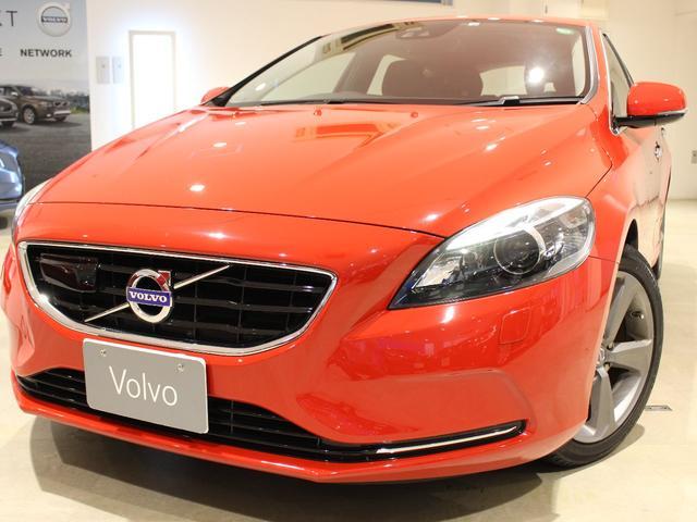 ボルボ V40 T4 SE エクステリアスタイリングキット ブラックレザー シートヒーター バックモニター リアバンパーセンサー アダプティブクルーズコントロール 純正HDDナビ バイキセノンヘッドライト