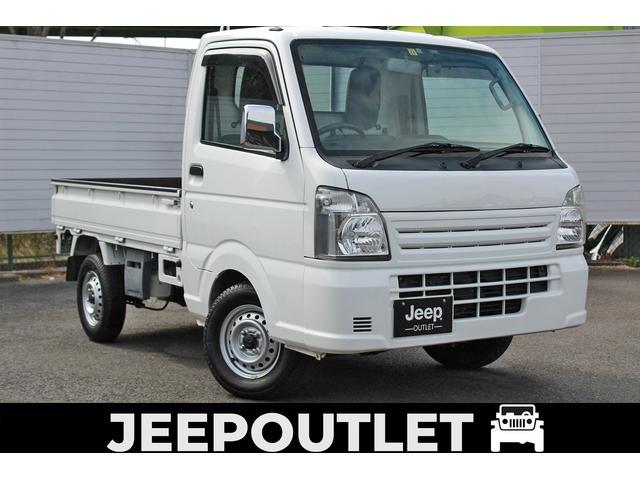 マツダ KCエアコン・パワステ 社外ナビ/フルセグTV/Bluetooth/ドライブレコーダー/ETC/LEDヘッドライト/PS/CD/DVD/3方開/JEEPOUTLETにマツダ スクラムトラックが入庫致しました。スペリアホワイト