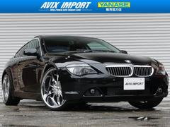 BMW650i ガラスSR黒革 純正HDDナビ 22AW 禁煙車