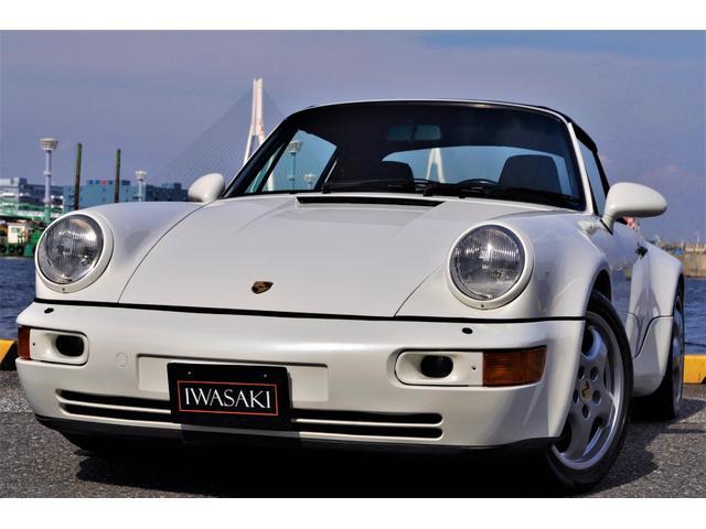 ポルシェ 911  911カレラターボルックカブリオレ限定40台ワイドボディ正規ディーラー車左ハンドル走行6.3万Km禁煙車パールホワイト内装ブラックレザーインテリアパワーシートターボボディコレクターアイテム物