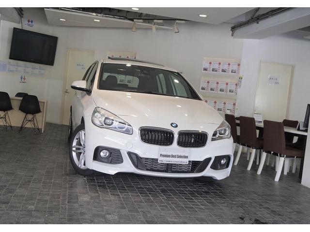 BMW 2シリーズ 218dグランツアラー Mスポーツ 1オーナーACCヘッドアップディスプレイパノラマサンル-フ新車保証
