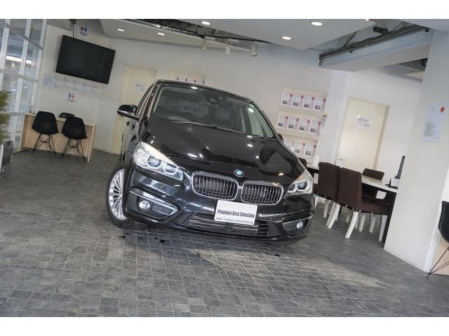 BMW 2シリーズ 218iグランツアラー ラグジュアリー 1オーナー ディーラー整備記録4枚 コンフォ-トパッケージ ブラックレザーシート バックカメラ 禁煙