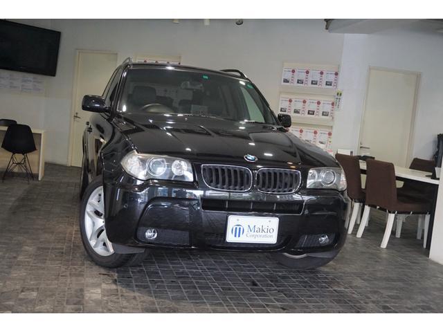 BMW X3 2.5i Mスポーツパッケージ ディ-ラ-整備記録H19.H20.H21.H22.H23.H24.H26.H28.H30.R2有 ブラックレザ-シ-ト HIDヘッド パナソニックナビ ミラ-型ETC 禁煙