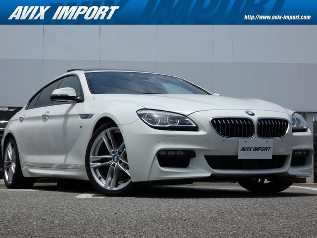 BMW 6シリーズ 640iグランクーペ Mスポーツ コンフォートアクセス MスポーツPKG専用19インチAW ガラスサンルーフ ブラックレザー シートヒーター アダプティブLEDヘッドライト 純正HDDナビ HUD ACC 右ハンドル 正規ディーラー車