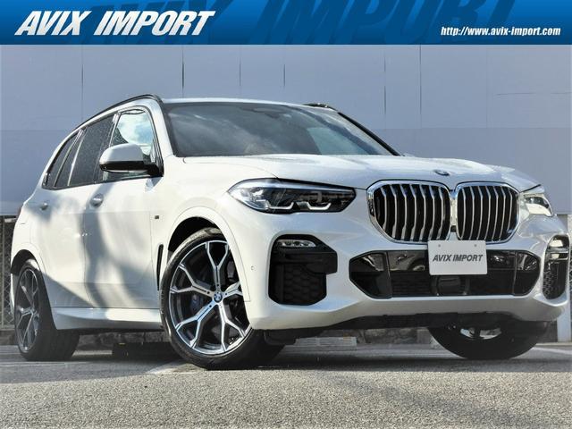 BMW X5 xDrive 35d Mスポーツ ドライビングダイナミクスPKG コニャック革 エアサス アクティブクルーズコントロール LED ヘッドアップディスプレイ HDDナビ 地デジ 全周囲カメラ 専用21AW 禁煙車  1オーナー 新車保証
