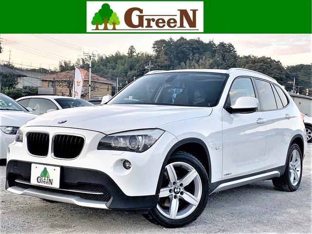 BMW X1 sDrive 18i 黒本革シート シートヒーター パノラマサンルーフ キセノン フォグランプ 純正HDDナビ 地デジチューナー バックカメラ コンフォートアクセス ミラーETC 社外17インチAW 整備記録簿 禁煙車