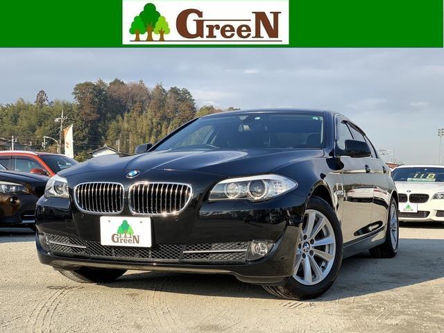 BMW 523i ハイラインパッケージ 黒本革シート キセノン 電動サンルーフ 純正HDDナビ 地デジ バックカメラ パークセンサー キセノン フォグランプ コンフォートアクセス クルーズコントロール ミラーETC 純正17インチAW