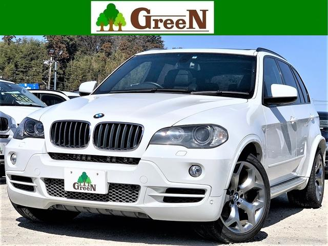 BMW 3.0si 黒本革シート パノラマサンルーフ 純正HDDナビ 地デジ 後席モニター サイドステップ アーキュレーステンレス4本出しマフラー 20インチAW ミラーETC CDチェンジャーオーバーフェンダー禁煙