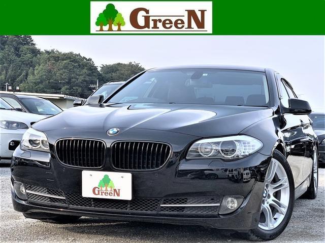 BMW 528i 直6 3リッターエンジン 黒本革シート キセノン シートヒーター 純正HDDナビ 地デジ バックカメラ パークセンサー クルーズコントロール リアトランクスポイラー Mスポーツ18AW ETC 禁煙車