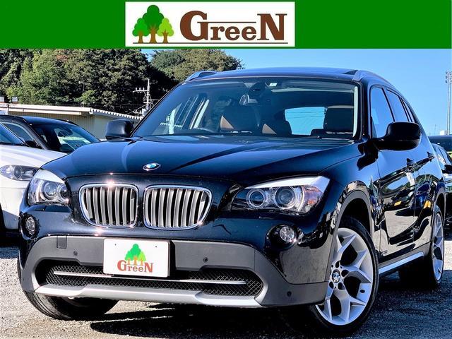 BMW X1 xDrive 25i 3Lエンジン 4WD ブラウン本革シート パノラマサンルーフ キセノン 純正HDDナビ バックカメラ パークセンサー パドルシフト Xライン専用18インチAW ミラーETC キーレス 記録簿 禁煙車