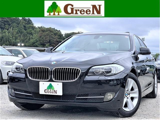 BMW 5シリーズ 528i 3L直6エンジン 黒本革シート 電動サンルーフ キセノン 純正HDDナビ 地デジ バックカメラ パークセンサー クルーズコントロール ミラーETC コンフォートアクセス 純正17AW 整備記録簿