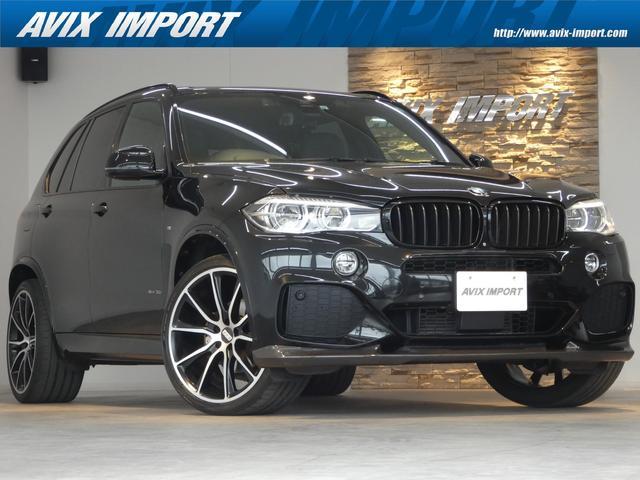 BMW X5 xDrive 35i Mスポーツ セレクトPKG パノラマSR 黒レザー 7人乗り アクティブクルーズコントロール インテリジェントセーフティ LEDヘッドライト 純正HDDナビ地デジ 全周カメラ リアモニター BBS22AW 禁煙車