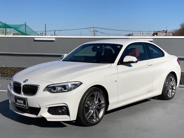 BMW 220iクーペ Mスポーツ 弊社下取り車/LEDヘッドライト/ACC/赤革シート/シートヒーティング/SOSコール/前後ドラレコ/バックカメラ/前後障害物センサー/コンフォートアクセス/アイドリングストップ/衝突軽減ブレーキ