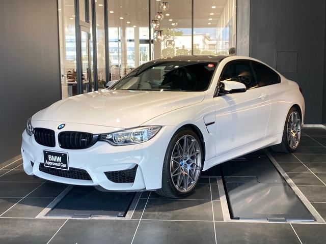 BMW M4クーペ コンペティション Mパフォーマンスステアリング 20インチライトアロイホイール フルセグTV 黒革スポーツシート 電動シート シートヒーター カーボントリム パドルシフト Mドライブロジック