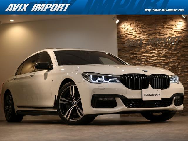 BMW 750Li Mスポーツ パノラマSR 黒革 全席シートヒーター&ベンチレーター 純正HDDナビ地デジ harman/Kardon リアエンターテイメント HUD&PDC トップビュー+3Dビュー BMWレーザーライト Dアシストプラス 禁煙車