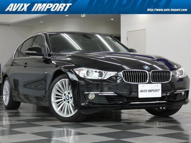 BMW 328iラグジュアリー ブラックレザーシート メモリー付パワーシート シートヒーター バイキセノンヘッドライト/LEDスモールライトリング付 純正HDDナビ・地デジ・バックカメラ パークディスタンスコントロール
