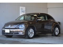 VW ザ・ビートルレザーpkg ベージュ革 ナビ Rカメラ 新車保証