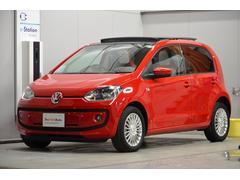 VW アップ!パノラマSルーフ ナビ Sヒーター 認定保証1年付