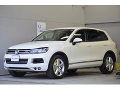 VW トゥアレグハイブリッド ナビ Rカメラ 黒革 ETC 認定保証6ヵ月