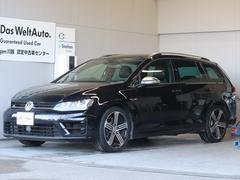 VW ゴルフRヴァリアントベースグレード ナビ Rカメラ 黒革 認定保証1年
