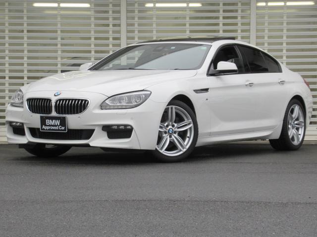 BMW 6シリーズ 640iグランクーペ Mスポーツ LEDヘッドライト ガラスサンルーフ 19インチアルミ 黒革 シートヒーター ドライビングアシスト HDDナビゲーション リアカメラ Bluetooth ETC USB 禁煙車