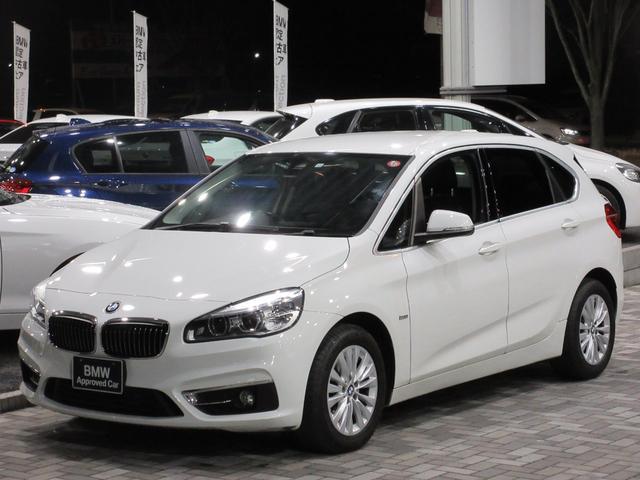 BMW 218dアクティブツアラー LEDヘッドライト 16インチアロイホイール ドライビングアシスト HDDナビゲーション リアビューカメラ ブラックレザー シートヒーター 電動シート bluetooth リアフィルム ウッドパネル