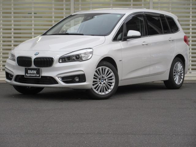 BMW 218dグランツアラー ラグジュアリー コンフォートPK セーフティPK LED ドライビングアシスト ヘッドアップディスプレイ 黒レザー ACC シートヒーター ETC ナビ Rカメラ 電動リアゲート 禁煙 コンフォートアクセス