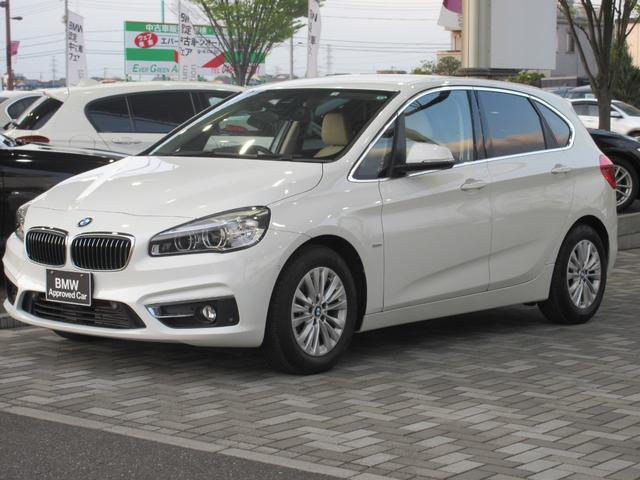 BMW 218iアクティブツアラー ラグジュアリー コンフォートパッケージ パーキングサポート ベージュ革シート シートヒーター 電動リアゲート HDDナビゲーション リアビューカメラ LEDヘッドライト ETC Bluetooth 禁煙車