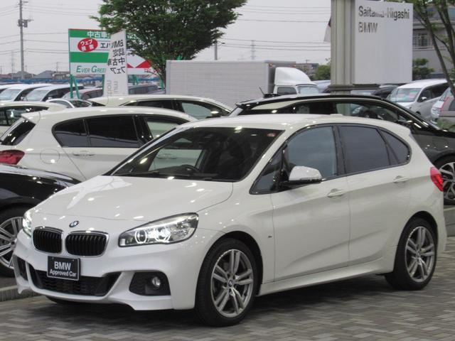 BMW 218dアクティブツアラー Mスポーツ クリーンディーゼル LEDヘッドライト ドライバーアシスト HDDナビゲーション リアビューカメラ 電動リアゲート ETC Bluetooth ミュージックコレクション 18インチアルミ 禁煙車