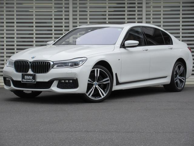 BMW 740Li Mスポーツ レーザーライト 茶レザーシート 4席ベンチレーションシート ソフトクローズドア ハーマンカードンスピーカー ガラスサンルーフ アクティブクルーズコントロール